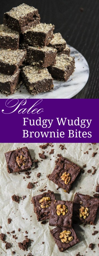 Fudgy Wudgy Paleo Brownie Bites {or Brownies} | Only Taste Matters