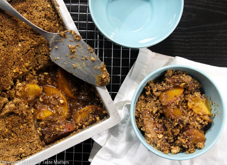 Paleo Peach Crisp | Only Taste Matters