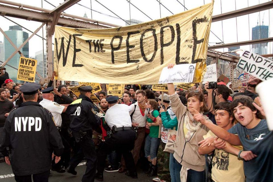 Occupy Wall Street: 700 Arrested on Brooklyn Bridge « Only The Blog Knows  Brooklyn