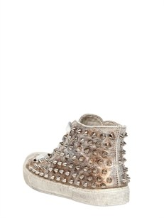Gienchi Lame' Soft Leather Spiked Sneakers [436] 9
