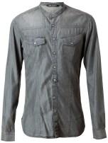 Neil Barrett Distressed Denim Shirt