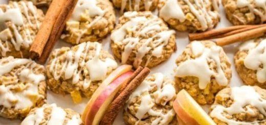 Овсяное печенье с яблоками и корицей