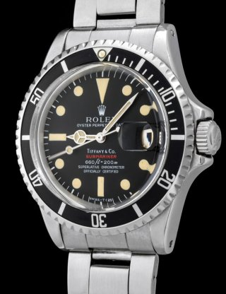 "Rolex ""The 1680 red Submariner retailed by Tiffany"" 2"