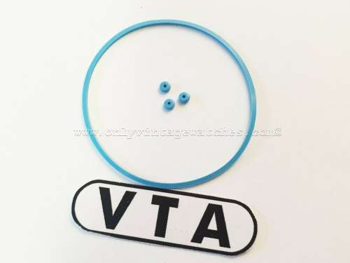 VTA BLUE Gaskets Seals for SEIKO 6139-6015 & 6139-6040 Chronograph EXACT FIT