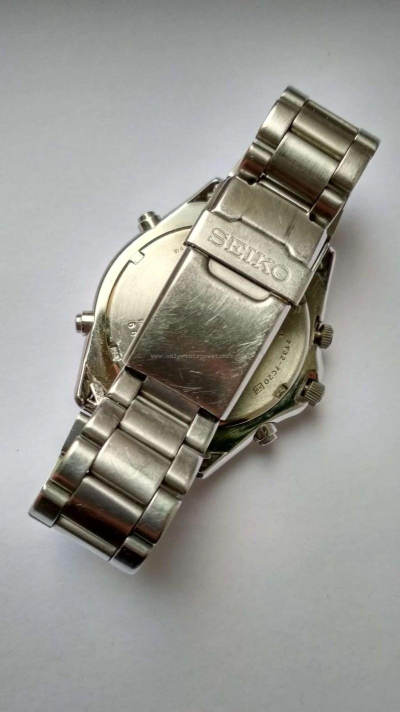 Vintage Seiko 7T32-7C20 Blue Dial Quartz Chronograph