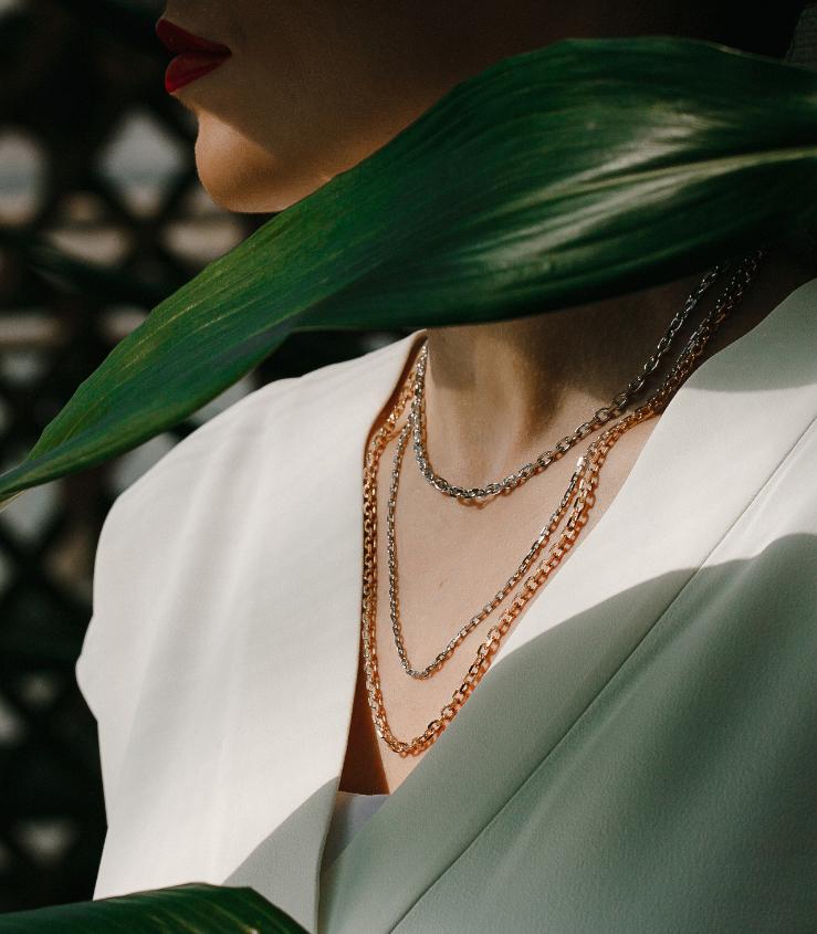 Rollo 23K Platinum Chain Necklace