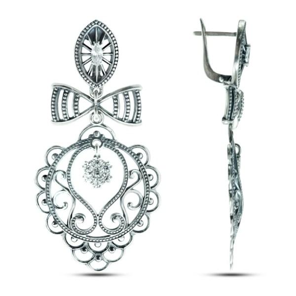 Bow Earrings Sterling silver onlyway jewelry
