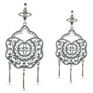 Enchanted Garden Silver Drop Earrings