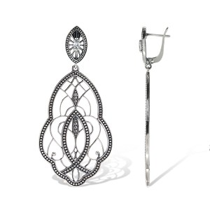 Divine Earrings Sterling Silver Onlyway Jewelry