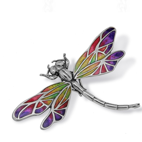 Dragonfly Brooch Silver Onlyway Jewelry
