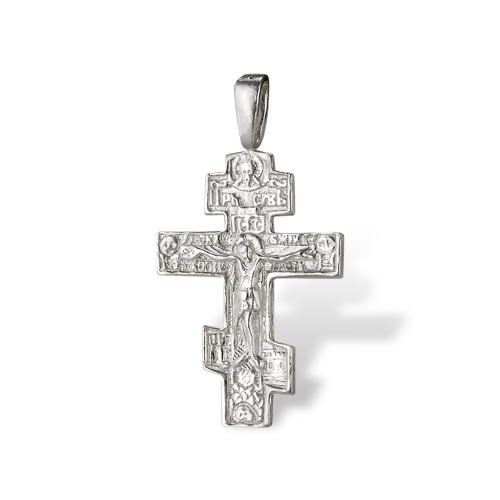 Religious Crucifix Cross Pendant Medium Size Recycled Sterling Silver 925 Onlyway Jewelry