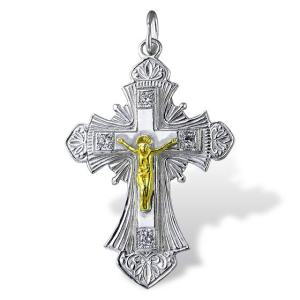 Christian Silver Cross Encrusted Onlyway Jewelry