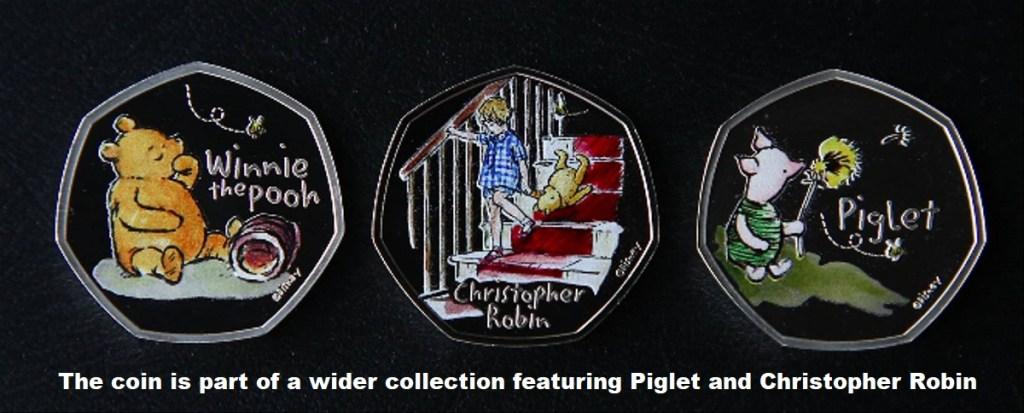 Монеты с Винни-Пухом от Королевского монетного двора The coin is part of a wider collection featuring Piglet and Christopher Robin ONLYWAY NEWS
