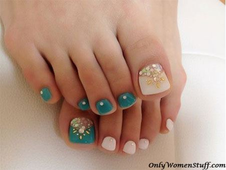 Easy And Beautiful Toe Nail Art Designs Ideas