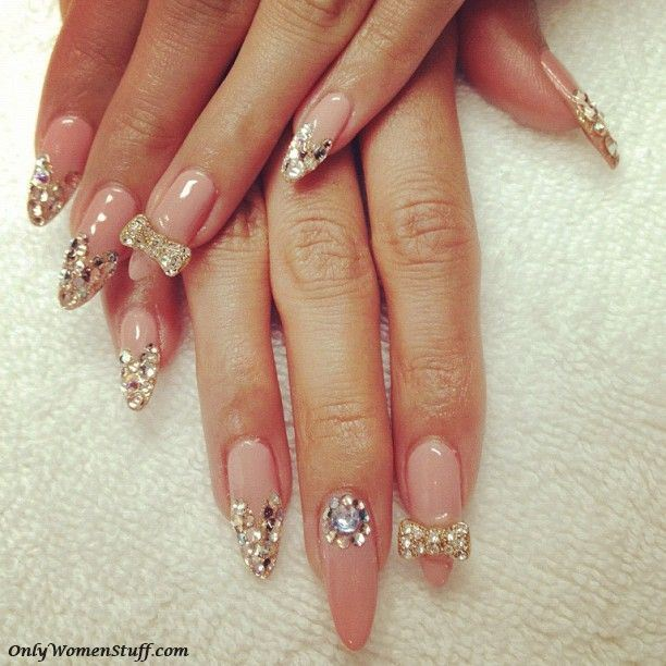Awesome Nail Art Patterns And Ideas Precious Gems Tutorial Step By