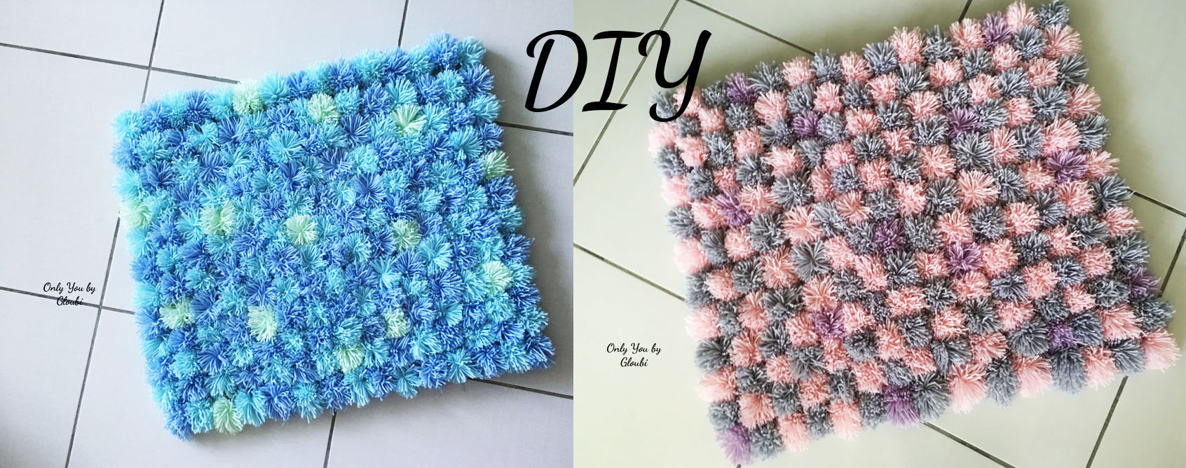 diy mon tapis pompons only you by