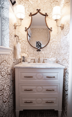 powder room floral