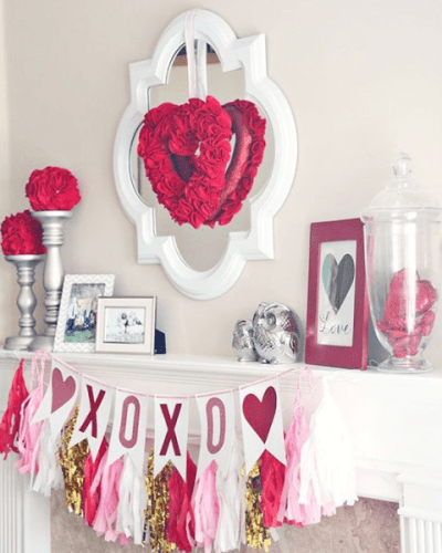 valentines day decor mantle ga real estate