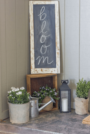 bloom chalkboard spring