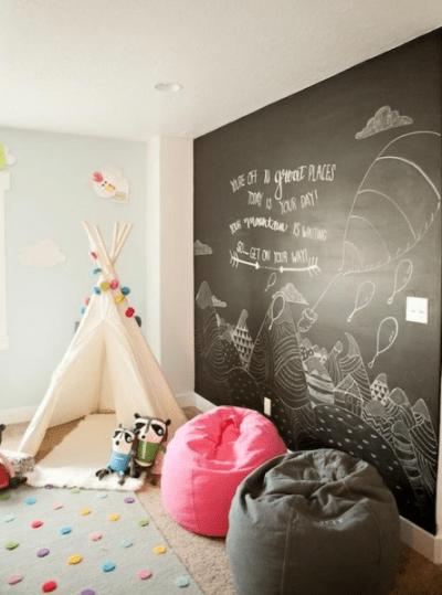 tent chalkboard wall