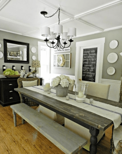 dining room bench table