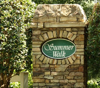 Summer Walk Cumming GA Subdivision