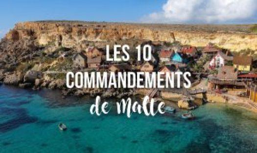 les 10 commandements de malte