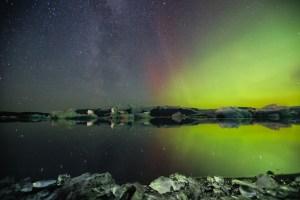 Aurores boréales en Islande - Jokulsarlon