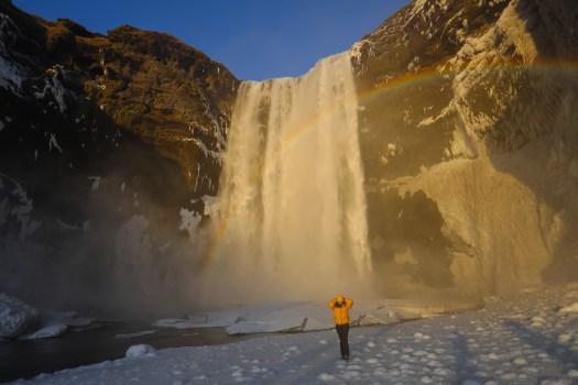 road-trip en Islande skogafoss cascade