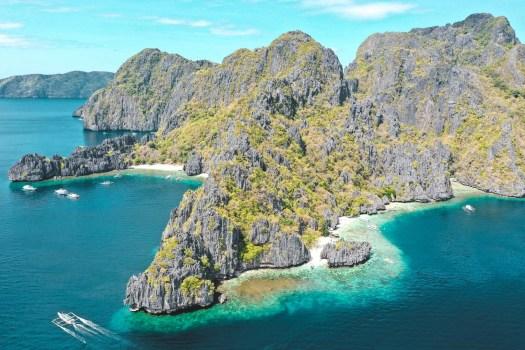 photo de l'archipel de bacuit à el nido Palawan philippines