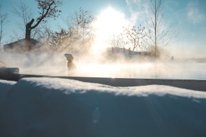 Nordik Spa-Nature au Québec l'hiver