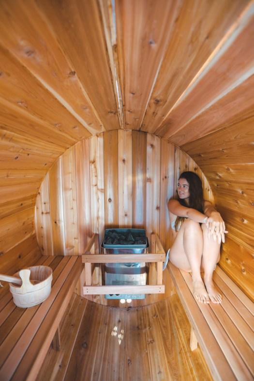 Sauna près de l'hébergement Bel Air dans les Laurentides au Québec