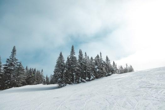 Piste de ski dans la station du Mont Tremblant au Québec