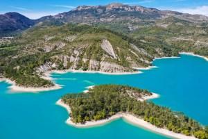 Lac de Castillon alpes de Haute Provence