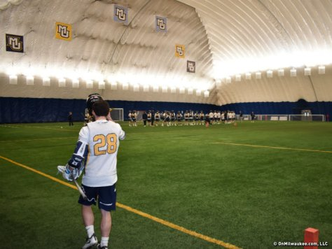 Image result for marquette indoor lacrosse practice