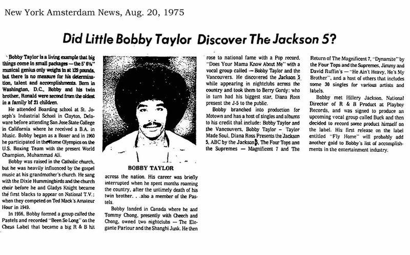 1975 bobby taylor