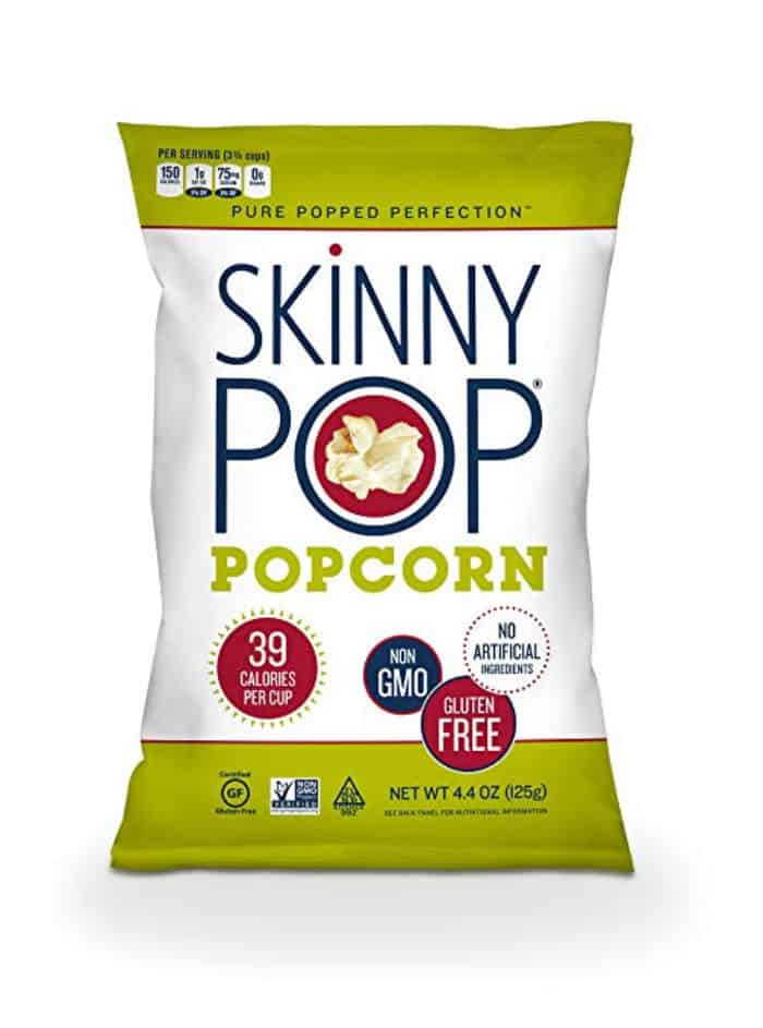 A bag of Skinny Pop popcorn