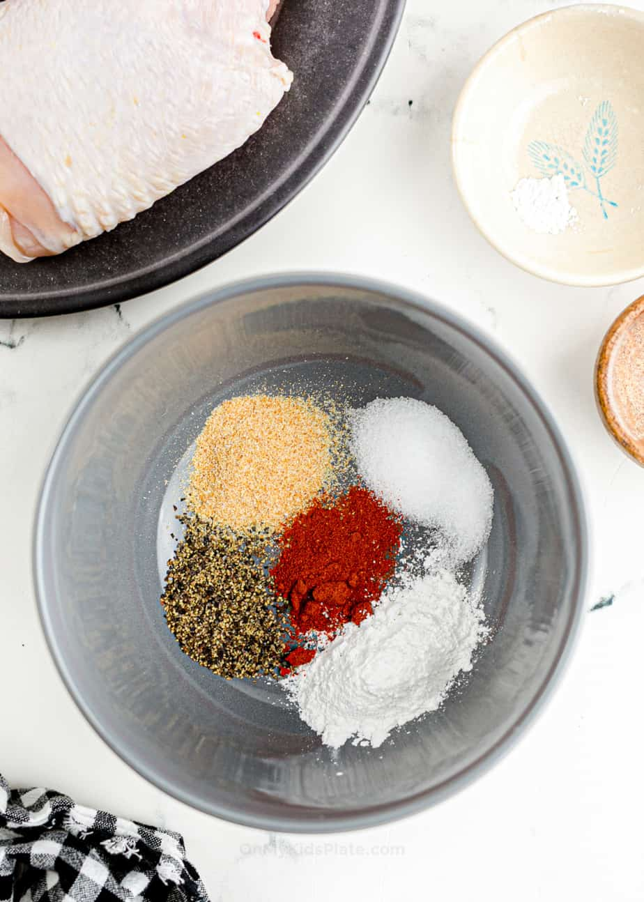 Mixing spices together in a bowl