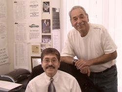 With brother Sergio (Del) in Del's office