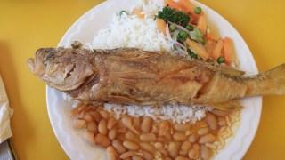 Pesca almuerzo $3.00