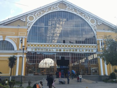 La Paz bus station. Designed by Gustov Eiffel (architect of the Eiffel Tower). A beautiful building but supposedly very dangerous.