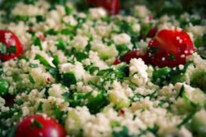 Couscous salade met tomaat en feta