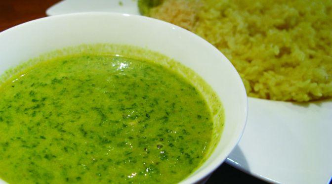新小岩「ヴィオレッタ」地もの食材を使ったインド風小松菜のカレー