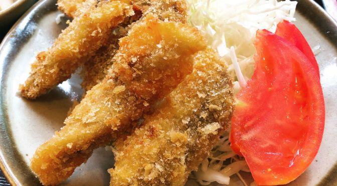 大崎「味楽」イワシ料理専門店でいただくイワシフライ。
