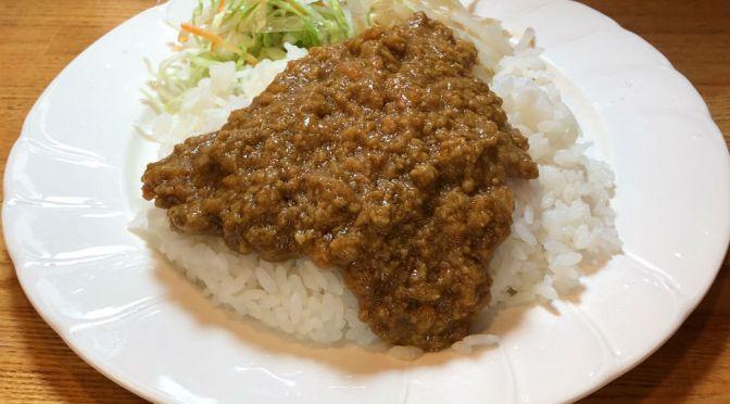 飯田橋「長崎ちゃんぽん2×3(スリーレッグ)」長崎ちゃんぽん専門店でいただく、美味しいドライカレー。