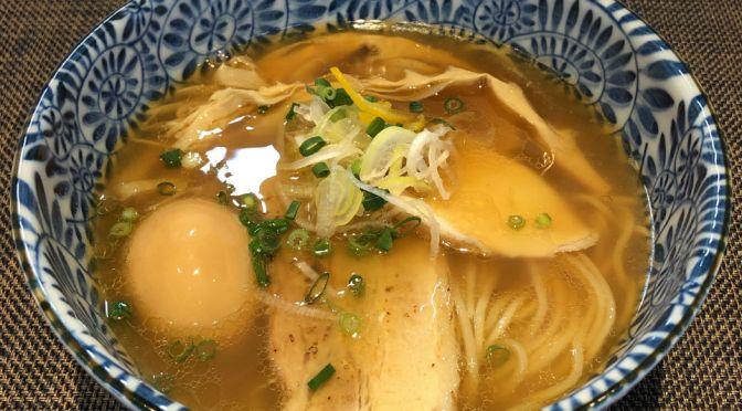 高田馬場「麺匠いし井」アゴ出汁の醤油ラーメンとサービスの賄い飯。