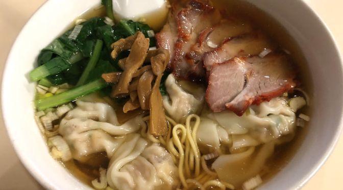 横浜中華街「東光飯店」メニューにない、チャーシューワンタン麺を食す。