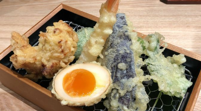 渋谷「立ち飲み天ぷらKUKI」天ぷら蕎麦セットを食す。