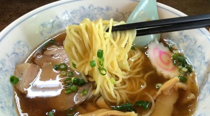熊野前「松ふじ」クリアーで美味しいラーメン。