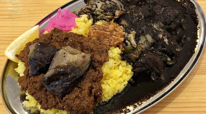 北習志野「モトカレー」美味しい褐色のミルチキャベツカレー。